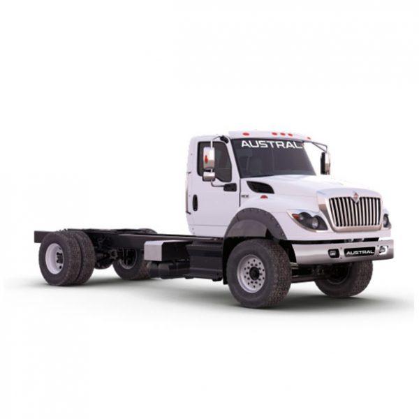 Camión International HV 4x2 Austral Cía. Ltda. International Ecuador color blanco